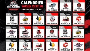 Calendrier Synerglace Ligue Magnus 2019-2020