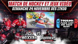 Match de hockey et jeux vidéos à Mériadeck le 24 Novembre !