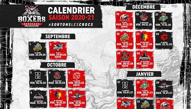 Calendrier Play Off Ligue Magnus 2021 Informations – Boxers de Bordeaux