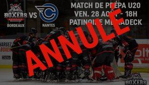 Match U20 Bordeaux-Nantes annulé