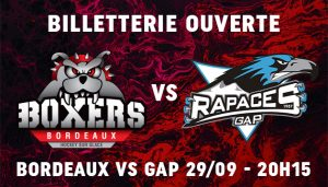 Billetterie SLM J2 Bordeaux Gap 29/09