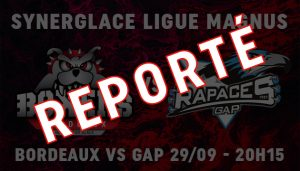 Report du match contre les Rapaces de Gap